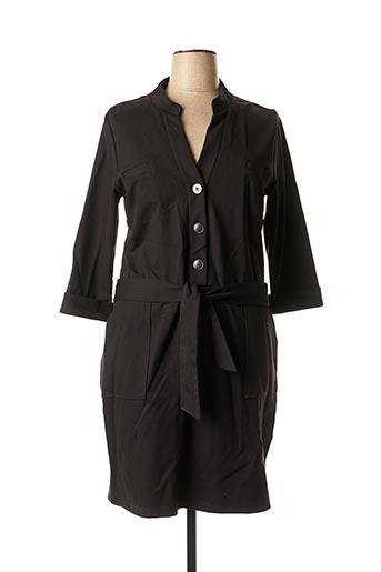 Robe mi-longue noir MAE MAHE pour femme