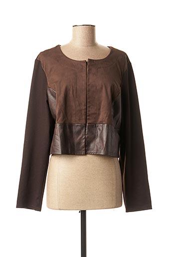 Veste casual marron DIANE LAURY pour femme
