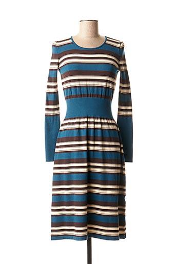 Robe pull bleu DIXIE pour femme