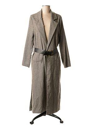 Manteau long gris DIXIE pour femme