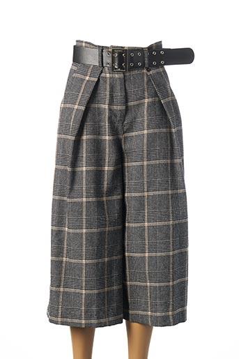 Pantalon casual gris DIXIE pour femme