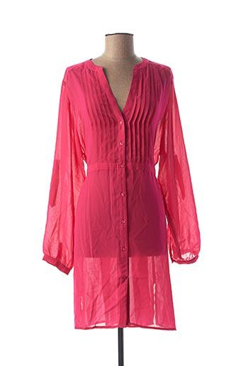 Robe mi-longue rose ANITA pour femme