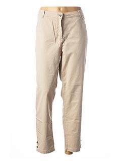 Pantalon 7/8 beige MAE MAHE pour femme