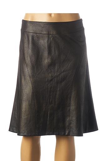 Jupe mi-longue noir GEVANA pour femme
