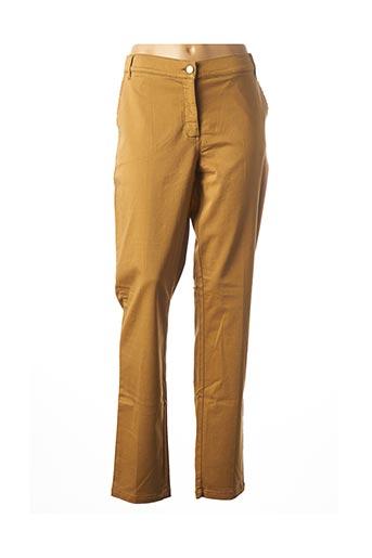 Pantalon casual jaune MAE MAHE pour femme
