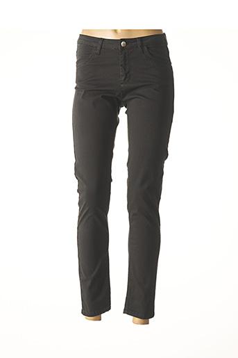 Jeans coupe slim noir FABER pour femme