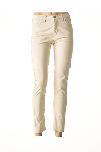 Pantalon 7/8 beige FABER pour femme