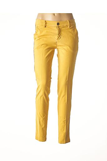Pantalon casual jaune CARLA KOPS pour femme