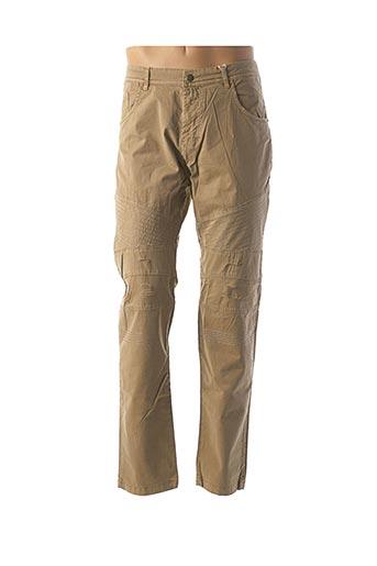 Pantalon casual beige TONY MORO pour homme
