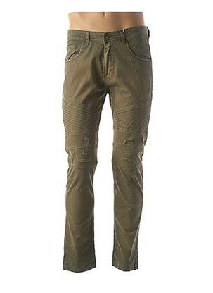 Pantalon casual vert TONY MORO pour homme