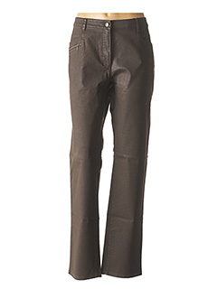 Pantalon casual marron FLEUR DE SEL pour femme