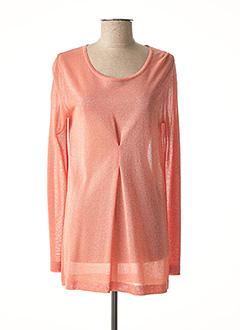 Pull tunique rose NINATI pour femme