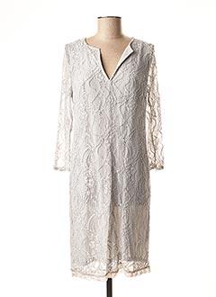 Robe mi-longue gris LAUREN VIDAL pour femme