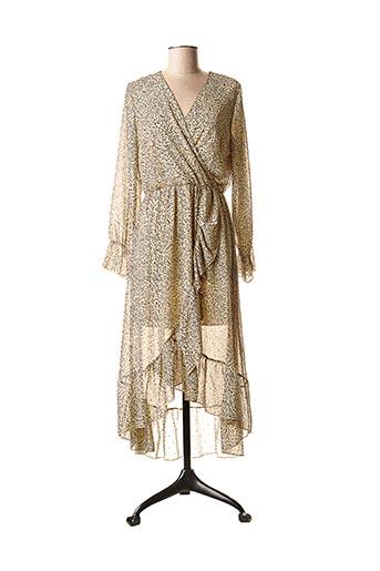 Robe longue beige FLAMANT ROSE pour femme