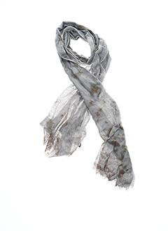 Foulard gris FLEUR DE SEL pour femme