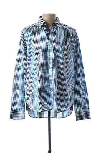 Chemise manches longues bleu COMPTOIR DU RUGBY pour homme