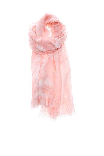 Foulard rose CAROLL pour femme