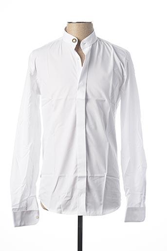 Chemise manches longues blanc GUY LAURENT pour homme