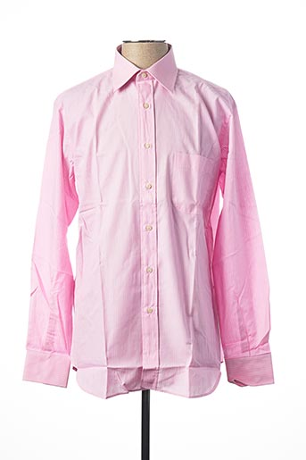 Chemise manches longues rose INGRAM pour homme