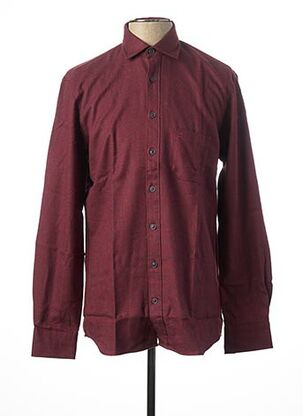 Chemise manches longues rouge OLYMP pour homme