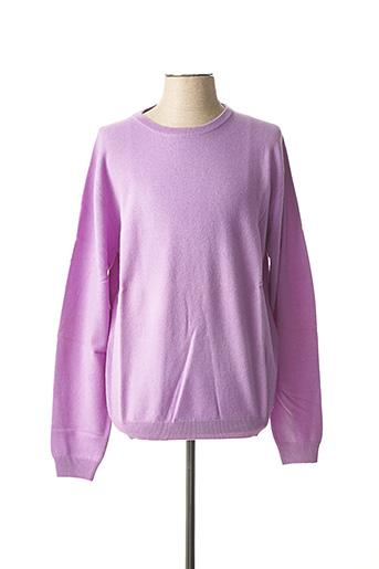 Pull col rond violet AL CAPRA pour homme