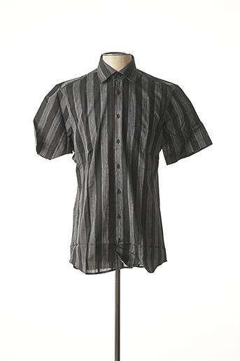 Chemise manches courtes noir JEAN CHATEL pour homme