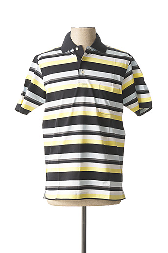 Polo manches courtes jaune OLYMP pour homme