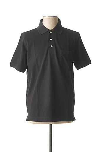 Polo manches courtes noir BUGATTI pour homme