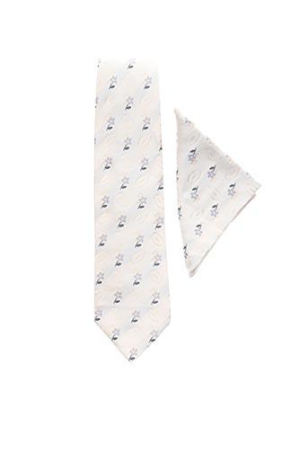 Cravate beige JEAN DE SEY pour homme
