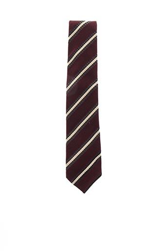 Cravate rouge COULEURS DU SUD pour homme
