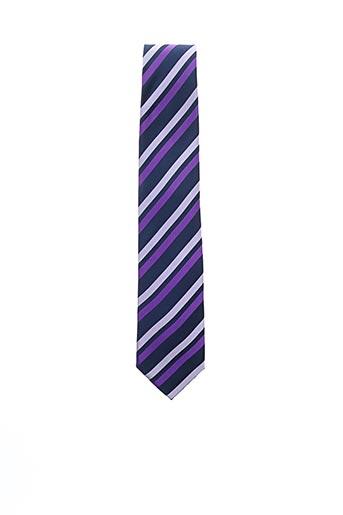 Cravate violet JEAN CHATEL pour homme