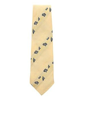 Cravate jaune GUY LAURENT pour homme