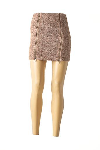 Mini-jupe marron DAPHNEA pour femme
