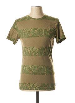 T-shirt manches courtes vert BLEND pour homme