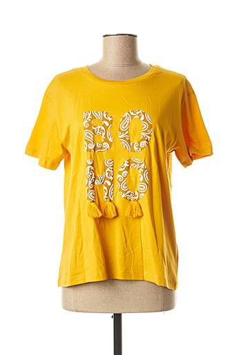 T-shirt manches courtes jaune TIFFOSI pour femme