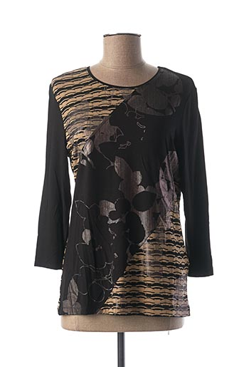 T-shirt manches longues noir LEBEK pour femme