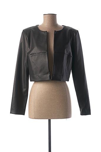 Veste simili cuir noir FILLE A SUIVRE pour femme
