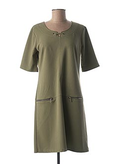 Robe mi-longue vert HALOGENE pour femme