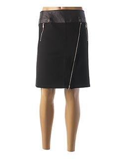 Jupe mi-longue noir HALOGENE pour femme