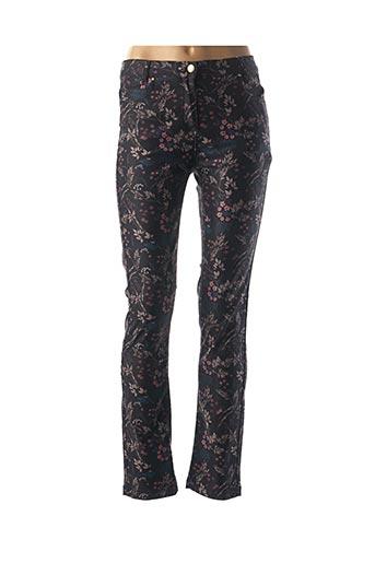 Pantalon casual noir JULIE GUERLANDE pour femme