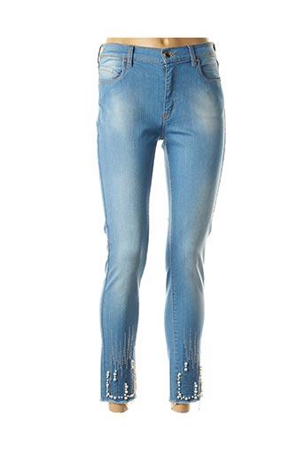 Jeans coupe slim bleu CRISTINA BARROS pour femme