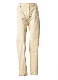 Pantalon casual beige AGATHE & LOUISE pour femme