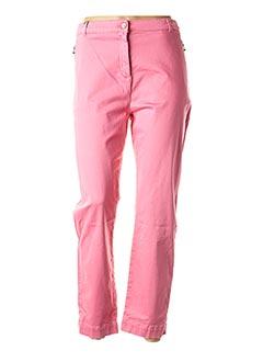 Pantalon casual rose THALASSA pour femme