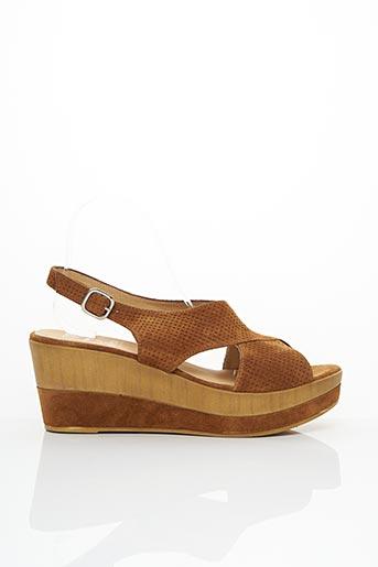 Sandales/Nu pieds marron GADEA pour femme