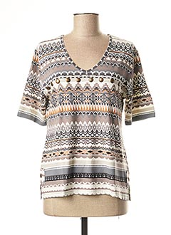 T-shirt manches longues gris GRIFFON pour femme
