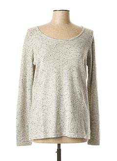 Pull col rond gris ANANKE pour femme
