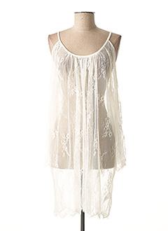 Tunique manches courtes blanc LAUREN VIDAL pour femme