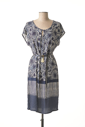 Robe mi-longue bleu LE PETIT BAIGNEUR pour femme