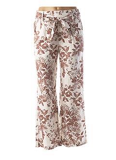 Pantalon casual blanc B.YOUNG pour femme