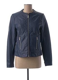 Veste simili cuir bleu B.YOUNG pour femme